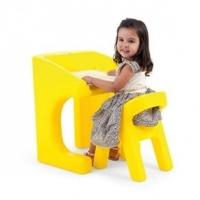 Escrivaninha Infantil com Cadeira Xalingo 09398 Amarela