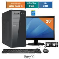 Computador Easypc 5680 Intel Core I5 8GB 2TB 3.2GHz Windows 10 + Monitor Led 19.5