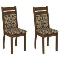 Conjunto 2 Cadeiras 4237x Madesa Rustic bege marrom