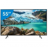 "Smart TV 4K LED 55"" Samsung UN55RU7100GXZD Conversor Digital"