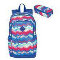 Mochila De Costas Juvenil Sestini Magic Summer Com Estojo