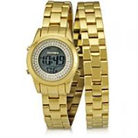 67d5245554e Relógio Mondaine Casual 76186LPMSDS2 Feminino Digital Dourado