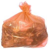 Saco para Lixo com Capacidade de 100 Litros Laranja com 100 Unidades Itaquiti