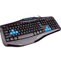Teclado E-blue Cobra Combatant X LED Gamer USB Preto e Azul
