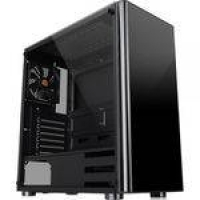 Gabinete Thermaltake Tt V200 Tg Black Tempered Glass X1 Mid Tower C/Janela - CA-1K8-00M1WN-00