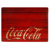 Jogo Americano e Porta-copos Coca-Cola Wood Style 4 Peças