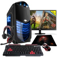 Computador Gamer G fire Htg 311 A10 9700 8gb radeon R7 2gb Integrada 1tb Monitor 18,5 Azul