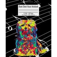 Blank Sheet Music Notebook: 100 Pages 12 Staff Music Manuscript Paper Maltese Dog Cover 8 X 10 Inches / 20.3 X 25.4 CM