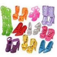 10 Pares Bonito Moda Festa Desgaste Diário Roupas Roupas Roupas Mini Sapatos Para Boneca Barbie