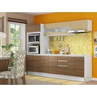 Cozinha Compacta Madesa Smart G20073097G - com Balcão 12 Portas 2 Gavetas 100% MDF