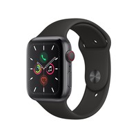 Apple Watch Series 5 44mm GPS Integrado Cellular Wi-Fi Pulseira Esportiva 32GB Preta