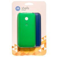 Kit 2 Capas Motorola Shells para Celular Moto E Azul e Verde