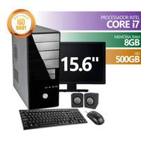 Computador Premium Business Intel Core I7 8GB DDR3 HD 500GB Monitor 15.6 + KIT