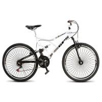 Bicicleta Colli Dupla Suspensão Aro 26 Fulls Gps 72 Raios Masculina Branca