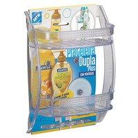 Prateleira Porta Shampoo Plus Arthi 1920 Plástico Transparente