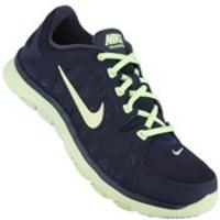 3e22809740c14 Tênis Nike Flex Supreme TR Feminino Azul Marinho e Verde Limão