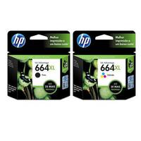 Kit Cartuchos de Tinta Hp 664xl Black + Color Original