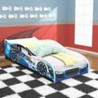 Mini Cama Carros Drift Infantil com Proteção nas Laterais - Azul - RPM Móveis