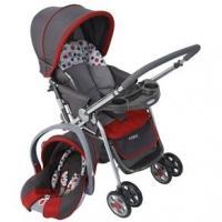 Carrinho de Bebê Cosco CD200TS Reverse Travel System + Bebê Conforto Vermelho