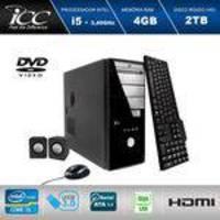 Computador Desktop Icc Iv2543c Intel Core I5 3.2 Ghz 4gb HD 2tera Com Dvdrw,tec, Mouse E Cx De Som