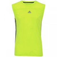 Camiseta Regata adidas Base 3S Masculina Verde Claro e Cinza escuro ... da2ed2da66872