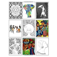 Coloring Book of African Art: 70 images to copy, colour or paint