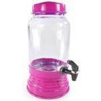 Suqueira De Vidro Refresqueira 3,2 Litros Pink