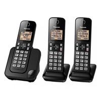 Telefone Sem Fio Panasonic KX-TGC353 Com Bina 3 Aparelhos Preto