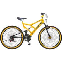 Bicicleta Colli 72 Raias Aro 26 21 Marchas GPS Amarela
