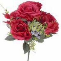 Kit flor artificial 8 Buques de Rosas Vermelhas