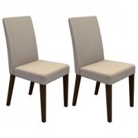 Kit com 2 Cadeiras Madesa Ampliare Brenda Troia Tabaco e Saara
