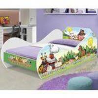 Cama Infantil Carruagem 150x70 cm com Colchão D20 - Princesa Encantada - RPM Móveis