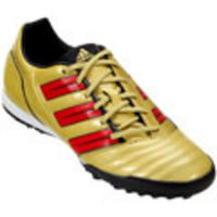 Chuteira Society Adidas Absolado XI TRX TF David Beckham Masculino Amarelo  e Vermelho b3344f3111863