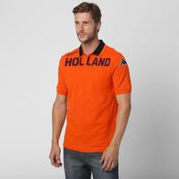 22d4e8385b Camisa Polo Kappa Eroi Holanda Masculina Laranja