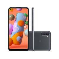 Smartphone Samsung Galaxy A11 64GB 4G Tela 6.4 Dual Chip Android 10 Preto