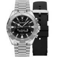 b769c2d581e58 Relógio Masculino Technos Connect SCAA 1P Pulseira Prata + Adicional  Silicone Preta