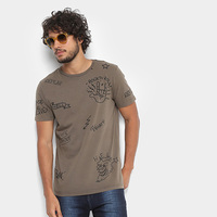 Camiseta Replay Rock'n'Roll Masculina - Masculino