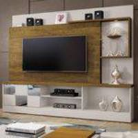 Estante Home Theater para TV até 65 Polegadas Dinamarca Espelho Plus Mavaular Off White / Canion