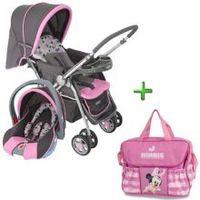 Carrinho de Bebe Cosco Travel System Reverse + Bebê Conforto Rosa + Bolsa  Baby Go Baby bae7e2771e9
