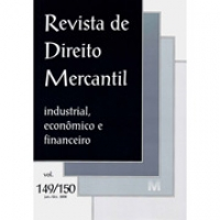 Revista de Direito Mercantil Industrial, Econômico e ...Vol.149/150