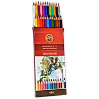Estojo Koh-I-Noor Lápis Aquareláveis Mondeluz Color 24 Cores