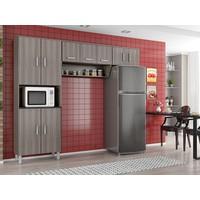 Cozinha Compacta Poliman Móveis Franciele 9 Portas