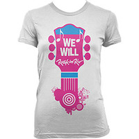 Camiseta Dimona We Will Rock in Rio Feminina Rosa e Branca