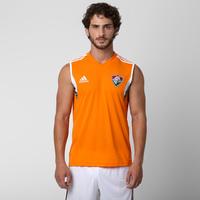 Camiseta Regata Adidas Fluminense Treino 2014 Masculina Laranja ... b99a1775287