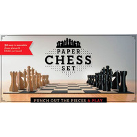 Paper Chess Set: Punch out the Pieces & Play