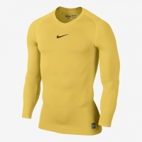 8701293b4e Camiseta Nike Pro Combat Lightweight Seamless Manga Longa Masculina Amarela