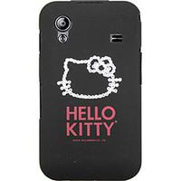 Capa para Celular Case Mix Galaxy Ace Hello Kitty Cristais Policarbonato Preta
