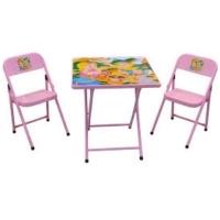 Mesa Infantil Escolar + 2 Cadeiras Metalmix Meninas Rosa