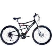 Bicicleta Aro 26 Disk Brake 21v MTB TB500 Preto e Branco Track Bikes