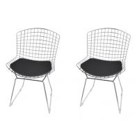 Kit de Cadeiras Mobizza CM0005 Cromado Preto 2 Peças